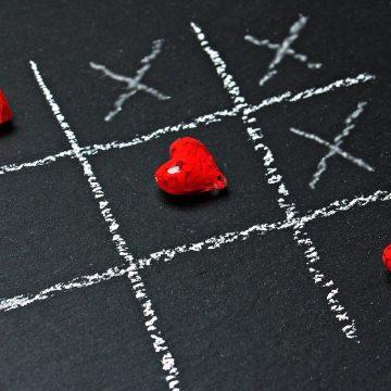 Tic Tac Toe Heart Game Chalk Love Play
