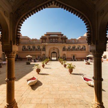 Architecture Chomu-Palace Rajasthan India
