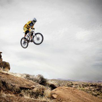 Mountain Biking Sports Leaping Jumping Freeriding